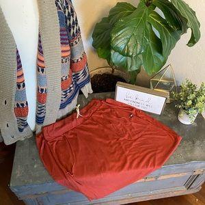 ARBOR rust maxi skirt